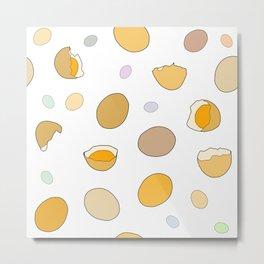 Space Eggs Metal Print