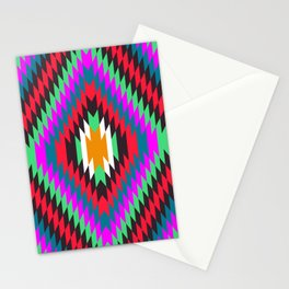 american native traditional ethnic costume motif seamless pattern Stationery Cards