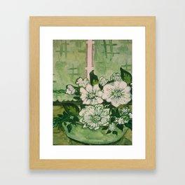 See Green Framed Art Print