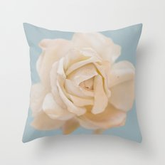 IVORY ROSE Throw Pillow