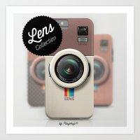 Lens LB300 Camera - insta - brown Art Print