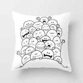 Doodle Selfie Throw Pillow