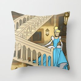 A Slipper On The Staircase Throw Pillow