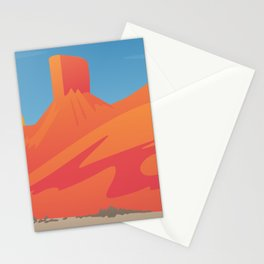 Desert Valley Landscape Scene Stationery Cards