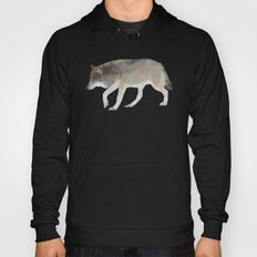 Wolf Low Poly Art Hoody