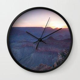 Beautiful Sunrise in the Grand Canyon Wall Clock
