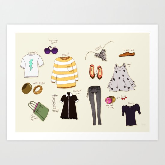 My (...not so new) spring wardrobe! Art Print