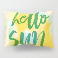 Hello Sun - Sunny yellow abstract Pillow Sham
