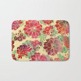 Flower Pattern Design #3 Bath Mat