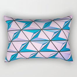 Blue Purple Geometric Triangle Pattern Rectangular Pillow