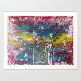 Abstract Red Fluid Art Art Print