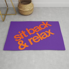 Sit Back & Relax - Grape Rug