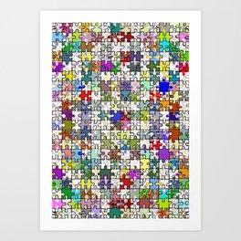 Jigsaw junkie Art Print