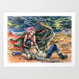 Desert Night Dream Art Print