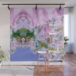 Lilac Dreams Fractal Abstract Wall Mural