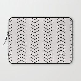 mudcloth pattern white black arrows Laptop Sleeve
