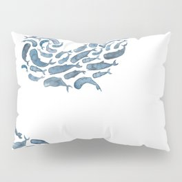 Whale Wave.  Pillow Sham