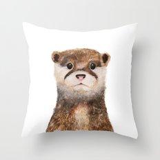 Little Otter Throw Pillow