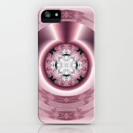 Art Deco Hub Cap in Red iPhone Case