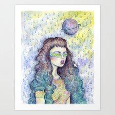Green Girl Art Print