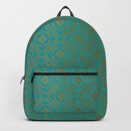 Pattern_Gold Backpack