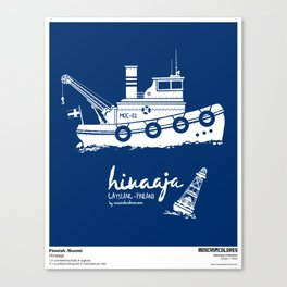 Hinaaja (Finland) Gay Slang Collection. White. Canvas Print