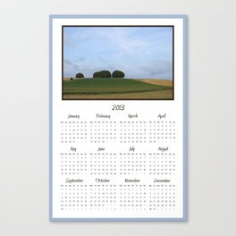 2013 Landscape Calendar Canvas Print