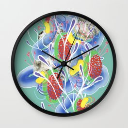Alien Organism 21 Wall Clock