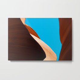 Curves of the Valley Metal Print