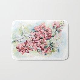 Flowering Japanese quince Bath Mat