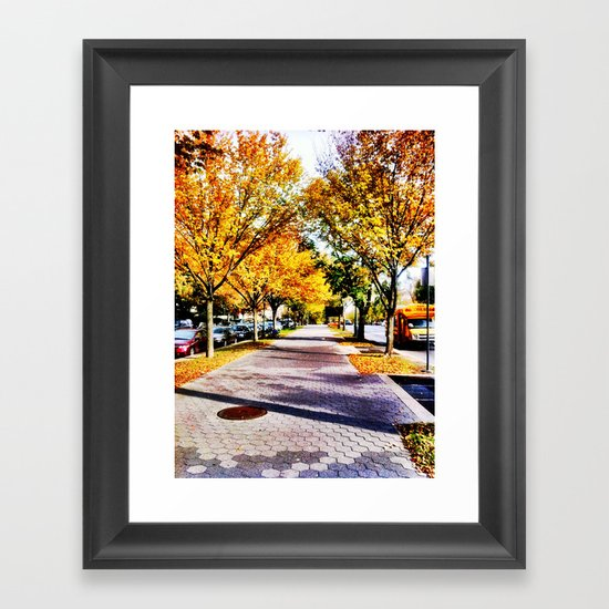 Brooklyn Autumn Framed Art Print