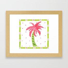 Pink Palm Beach Art Framed Art Print