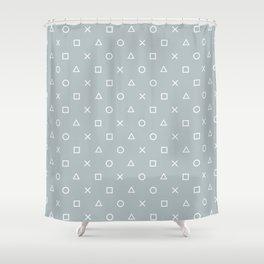 Gamer in the Fog Shower Curtain
