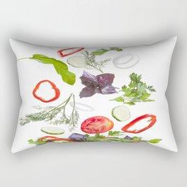 greek salad food vegetables Rectangular Pillow