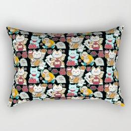 Super Lucky Pattern in Black Rectangular Pillow