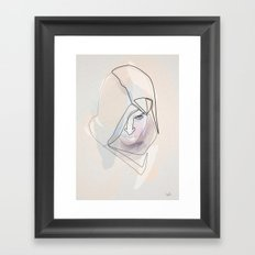 One Line Assasin's Creed Framed Art Print
