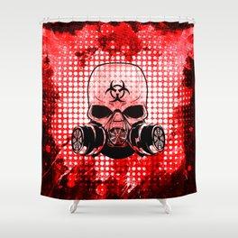 Guerrilla Bio-Hazard Warrior Shower Curtain