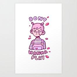 GRLGUTS CHUCKYGUTS Art Print
