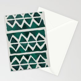 Teal Triangles Stationery Cards