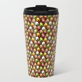 Metallic Beads Pattern Travel Mug