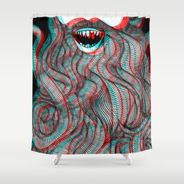Pogonophobia Shower Curtain