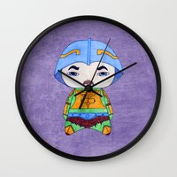 conan Wall Clocks featuring A Boy - Man-at-arms by Christophe Chiozzi
