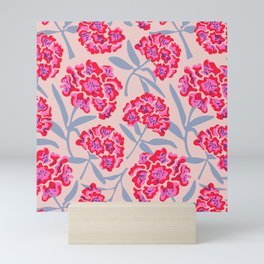 RHODODENDRONS FLORAL PATTERN Mini Art Print