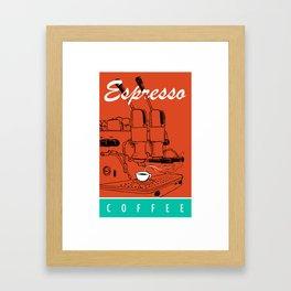 Espresso Coffee Framed Art Print