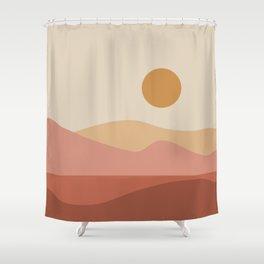 Geometric Landscape 23A Shower Curtain