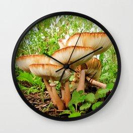 Mushroom Fairyland 1 Wall Clock