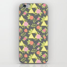 Garden of Power, Wisdom, and Courage Pattern in Grey iPhone Skin