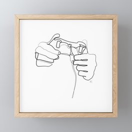 """"""" Gaming Collection """" - Hands Holding Gamepad Framed Mini Art Print"""
