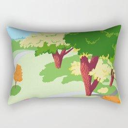 Sunnyside Park In The Spring Rectangular Pillow