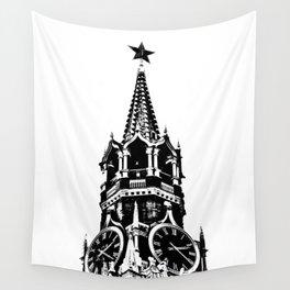 Kremlin Chimes-b&w Wall Tapestry